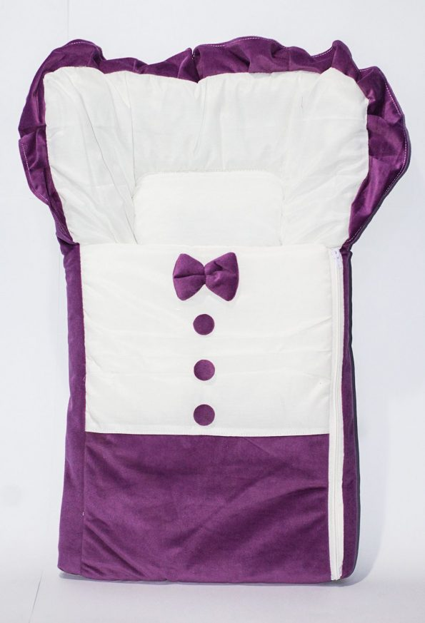 baby-sleeping-bed-soft-velvet-bow-button-purple