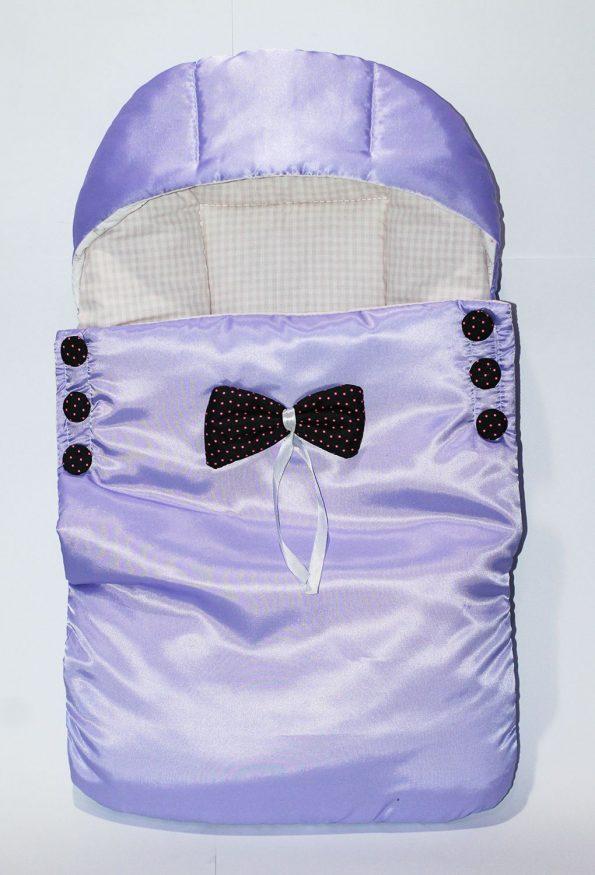 kidzo-baby-bed-purple-with-black-doted-ribbon