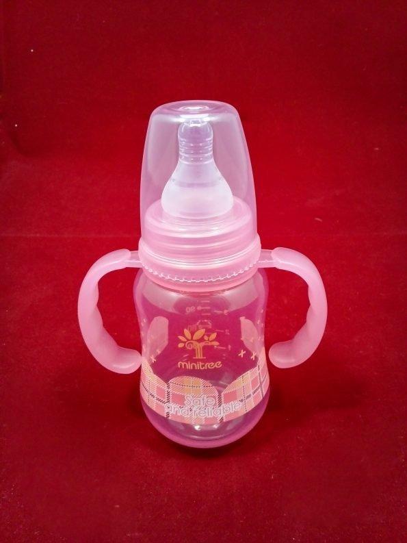 pink-feeder-bottle-150ml-minitree-pp-regular-neck-with-handle-5oz_1